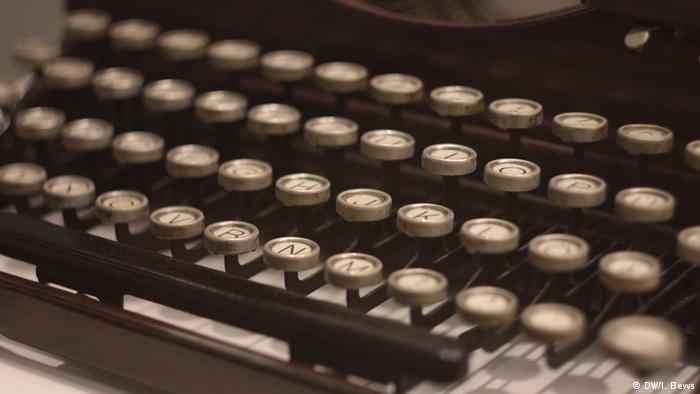 Печатная машинка на выставке в Институте Генриха Гейне