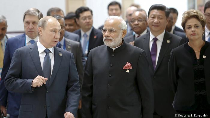 Staatenlenker beim BRICS-Gipfel in Ufa (Foto: Reuters/S. Karpukhin)