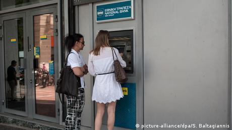 Griechenland Bankautomaten Kunden Athen