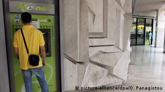 Griechenland Bankautomaten Kunden Athen Alpha Bank