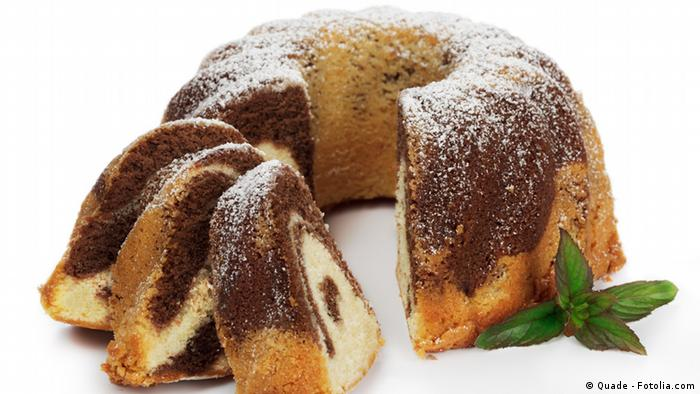 Marmorkuchen in Gugelhupfform