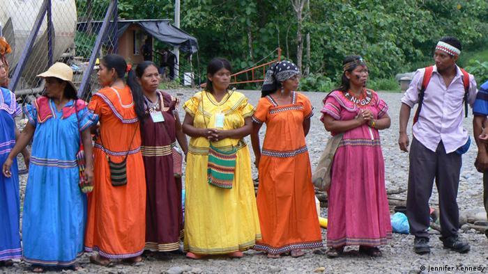 Ngobe-Bugle Indians protesting the Barro Blanco dam project in Panama (Photo: Jennifer Kennedy)
