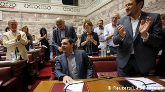 Griechenland EU Ministerpräsident Alexis Tsipras Parlament in Athen