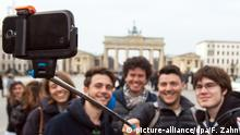 Selfie am Brandenburger Tor