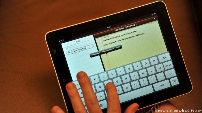 Сенсорная клавиатура на iPad