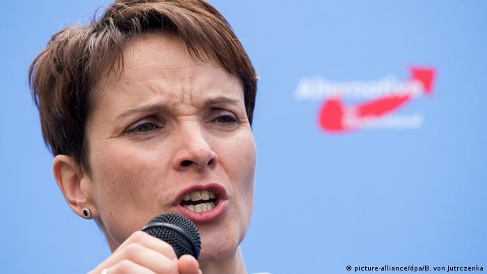 German right-leaning AfD leader calls for police right to shoot at refugees