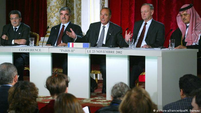 Jacques Chirac und Rafiq Hariri (picture-alliance/dpa/M. Bureau)