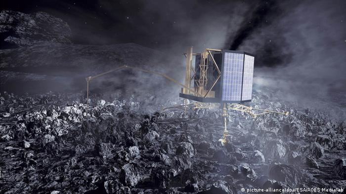 Lander Philae(Picture alliance/ dpa/ ESA/ AOES Medialab)