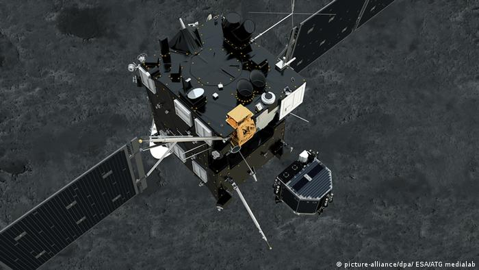Sonde Rosetta mit Mini-Labor Philae (picture-alliance/dpa/ ESA/ATG medialab)