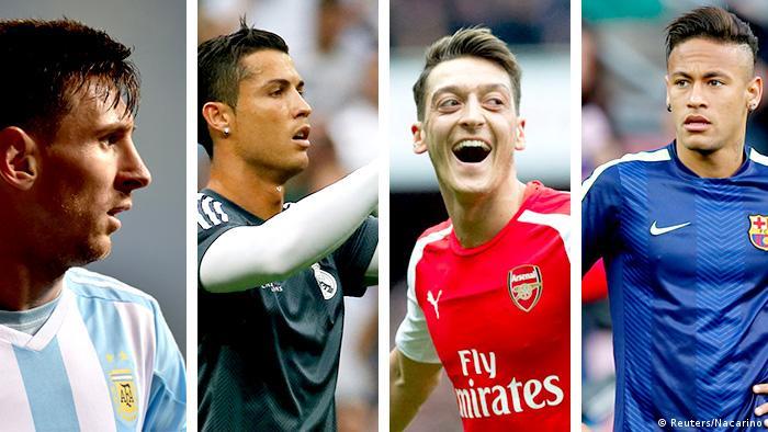Bildkombi 4 Fussballspieler (Reuters/Nacarino)