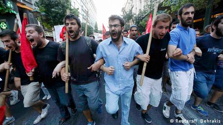 Griechenland Proteste gegen Sparpläne in Athen