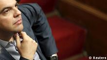 Alexis Tsipras im Parlament / Griechenland