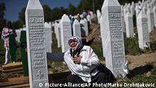 Zeremonie zum 20. Jahrestag des Massakers von Srebrenica in Potocari