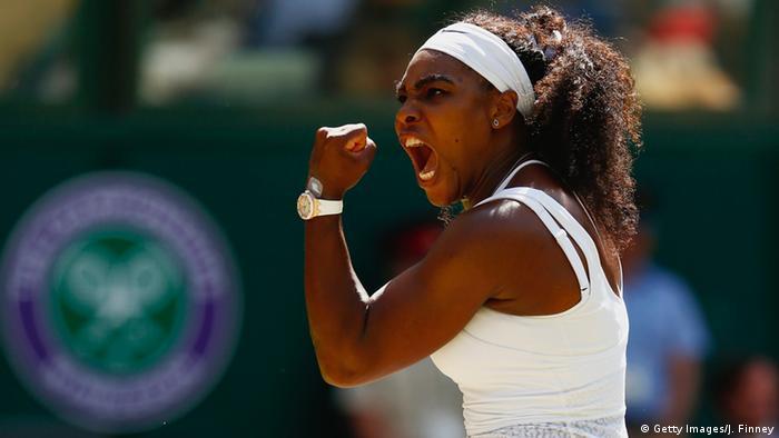 Großbritannien Serena Williams Wimbledon 2015 (Getty Images/J. Finney)
