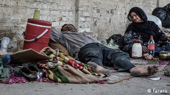 Obdachlose in Teheran (Foto:fararu)