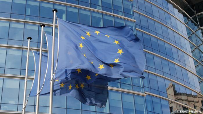 Brüssel EU Flaggen LEX Gebäude