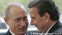 Deutschland Wladimir Putin und Gerhard Schröder in Berlin