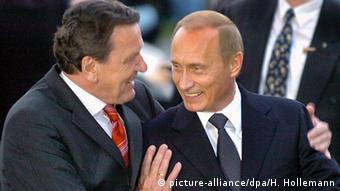 Герхард Шрёдер и Владимир Путин