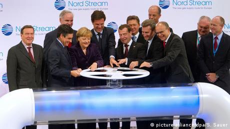 Церемонія запуску Півічного потоку, 8 листопада 2011 року