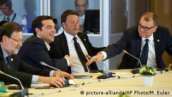 Brüssel Griechenland finnischer Premierminister Juha Sipila und Alexis Tsipras