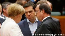 Brüssel EU Regierungsgipfel zu Griechenland Merkel Tsipras Hollande