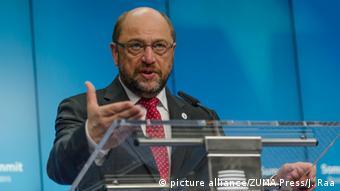 «Βιώνουμε τον εθνικό εγωισμό στην πιο ξεκάθαρη μορφή του», σχολίασε ο Μ. Σουλτς, στηλιτεύοντας τη στάση ορισμένων χωρών απέναντι στους πρόσφυγες