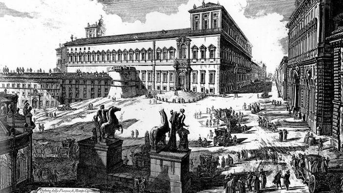 Квиринальский дворец в Риме. Рисунок Пиранези