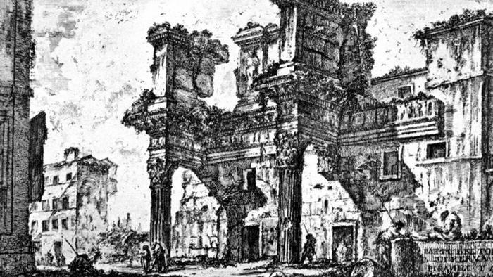 Форум Нервы в Риме. Рисунок Пиранези