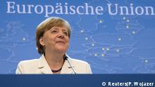 Belgien Euro-Gipfel erzielt Einigung bei Griechenland Pressekonferenz