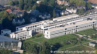 Eine Luftaufnahme der Deutschen Welle in Bonn