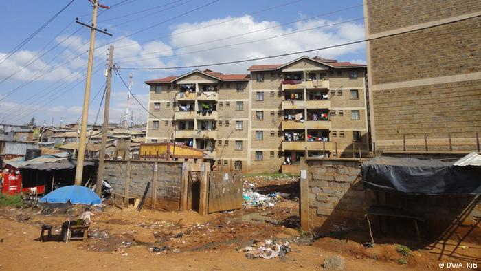 Unclean streets in Nairobi