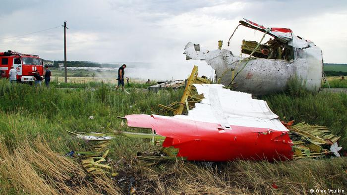 Archive picture of the MH17 crash site