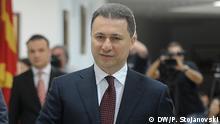 Mazedonische Ministerpräsident Nikola Gruevski, Skopje, 29.06.2015 Foto Petar Stojanovski, (Mazedonien, Nikola Gruevski) *** DW, Skopje, 29.06.2015 Foto Petar Stojanovski, (Mazedonien, Ali Ahmeti)