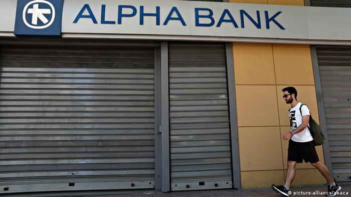 Griechenland Athen Alpha Bank (picture-alliance/abaca)