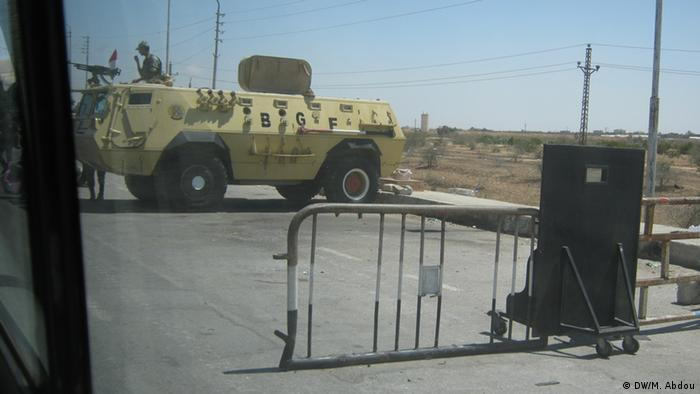 Egyptian checkpoints in Sinai