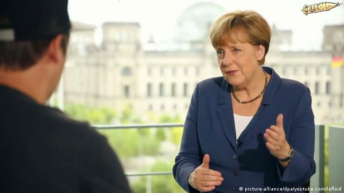 YouTube-Star LeFloid interviewt Bundeskanzlerin Merkel