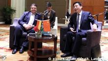 China Sigmar Gabriel trifft Miao Wei in Peking