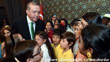 Türkei Erdogan mit Kindern im Präsidentenpalast Ankara