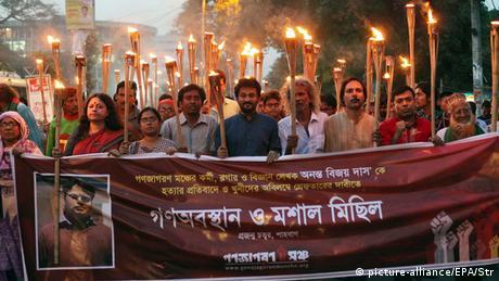 Protest Bangladesch Blogger Dhaka Ananta Bijoy Das