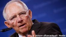 Belgien PK EZB Ecofin-Treffen der Finanzminister Wolfgang Schäuble