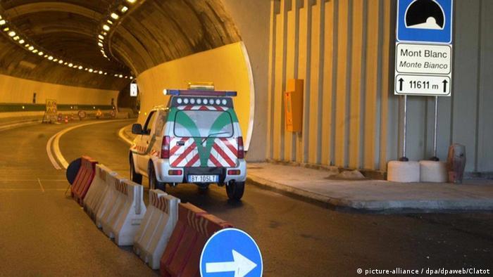 Подготовка к повторному открытию Монбланского туннеля