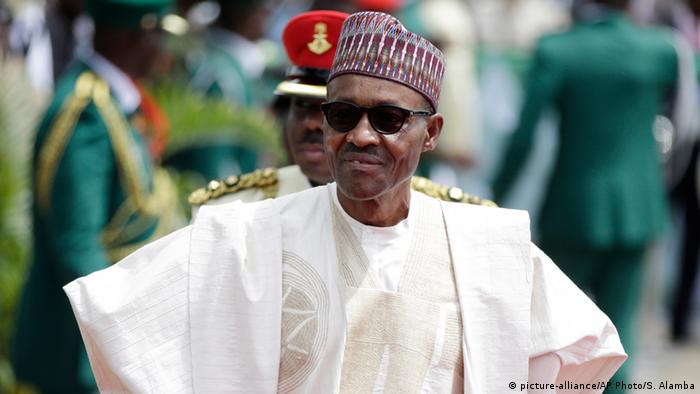 President Muhammadu Buhari at his inauguration in May 2015