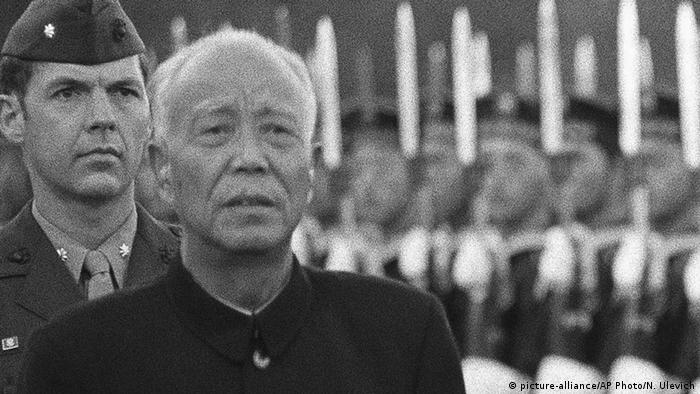 China Vizepremierminister Wan Li 1985