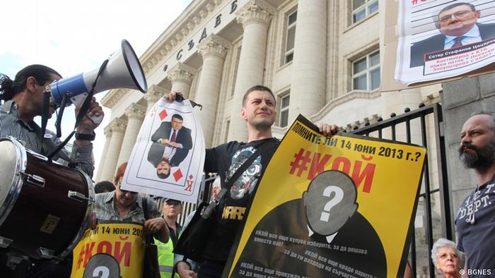 Bulgarien Protest in Sofia