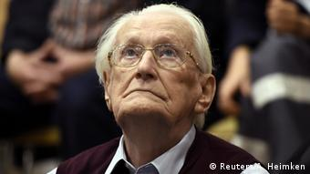 Oskar Gröning, o contador de Auschwitz foi condenado a quatro anos de prisão em julho de 2015