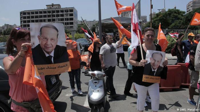 Libanon Demonstration Konfrontation zwischen Christen und Sunniten