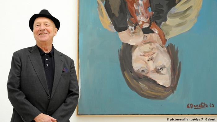 Georg Baselitz am 18.09.2014 in der Ausstellung Georg Baselitz - Damals, dazwischen und heute im Haus der Kunst in München (Foto: Andreas Gebert/dpa)
