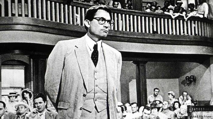 Gregory Peck no papel de Atticus Finch, o herói de To Kill a Mockingbird