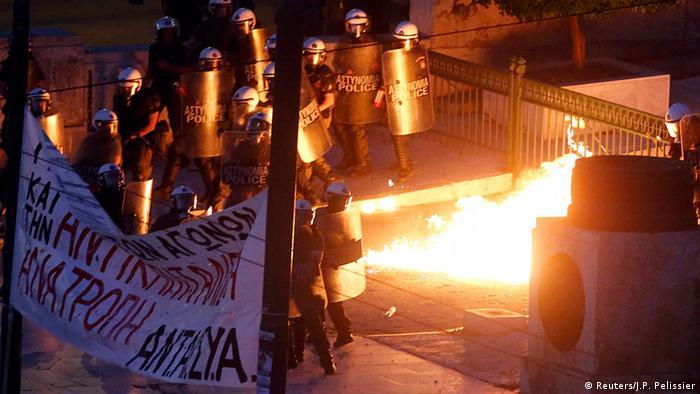 Griechenland Ausschreitungen vor Parlament