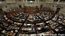 Griechenland Parlament Debatte